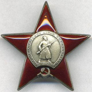 Order of the Red Star Soviet military award