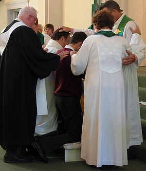 English: Affirmation of clergy ordination by t...