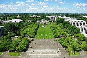Capitol Mall as seen from Oregon State Capitol