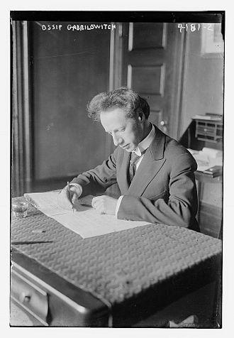Ossip Gabrilowitsch - Ossip Gabrilowitsch in 1917