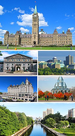 Centre Block on Parliament Hill, het Government House, Downtown Ottawa, het Château Laurier, de National Gallery of Canada en het Rideau Canal
