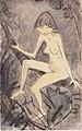 Otto Mueller - Nackte Frau auf Ast sitzend - ca 1924.jpeg