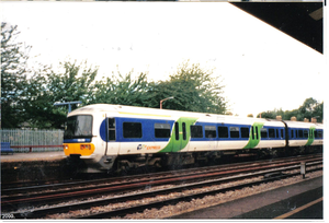 Thames Trains - A Class 166 Thames Turbo Express unit at Oxford.