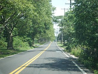 Pennsylvania Route 63 - PA 63 eastbound on Welsh Road past Tennis Avenue intersection near Ambler.
