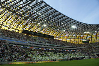 Stadion Energa Gdańsk - Main stand before inaugural match