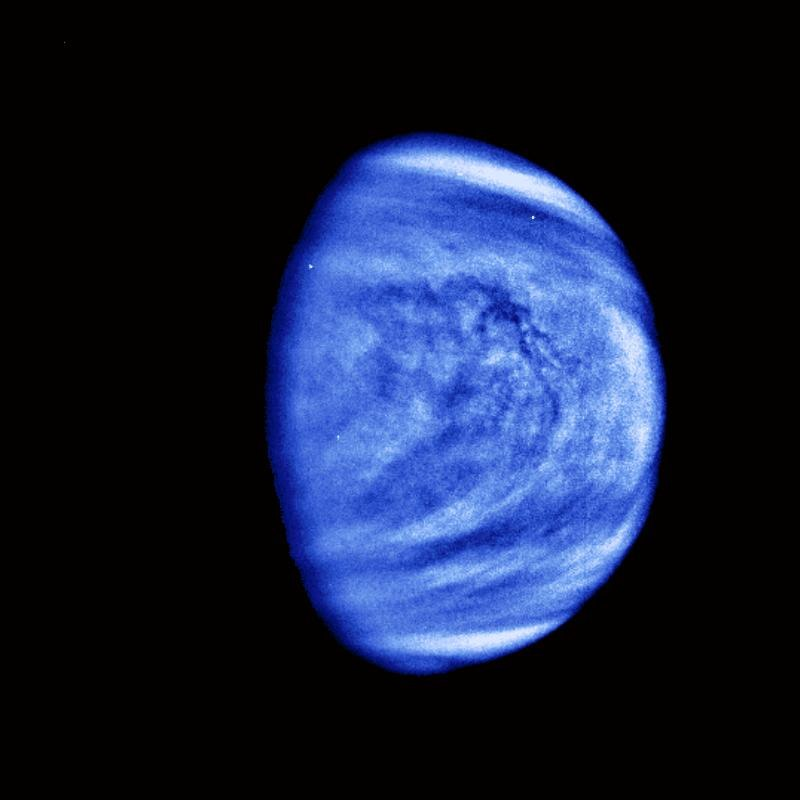 PIA00072 Venus Cloud Patterns - colorized and filtered