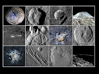 Ceres (dwarf planet) - Notable geological features on Ceres