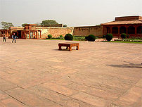 Pachisi board on the Courtyard of the Fatehpur...