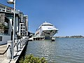 Pacific Dawn (ship) at Portside Wharf at Hamilton, Queensland 02.jpg