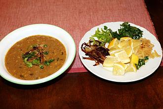 Haleem - Pakistani haleem served with garnish
