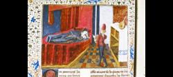 Pandarus and Criseyde from Boccaccio's Il Filostrato MS. Douce 331.png