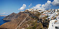 Panoramic view of Fira coast line, Santorini island (Thira), Greece.jpg