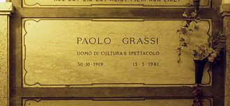 Paolo Grassi - Grassi's grave at the Monumental Cemetery of Milan, Italy.