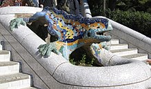 "el drac ""the dragon"" sculpture by Antoni Gaudi"