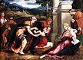 Paris Bordone - Sacra Famiglia con Santa Elisabetta, San Giovannino e San Zaccaria - Collezione Borromeo, Isola Bella, Stresa.jpg