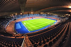 Parc des Princes - The pitch of the current Parc des Princes.