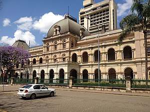 Parliament House, Brisbane - Parliament House with Parliamentary Annexe in background