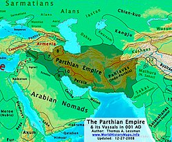 Parthia, its subkingdoms, and neighbors in 1 AD