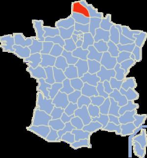 Communes of the Pas-de-Calais department - Image: Pas de Calais Position