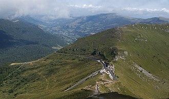 Pas de Peyrol - Pas de Peyrol looking north from Puy Mary