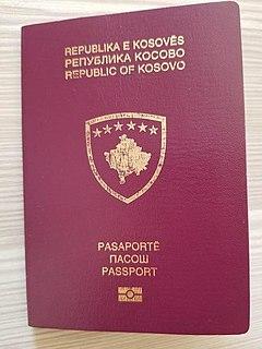 Kosovan passport passport