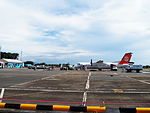 Passengers Leave Aircraft to Shuttle Bus 20120811.JPG