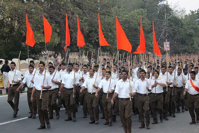 Rastriya Swayamsevak Sangh (Asociación Patriótica Nacional) o RSS, organización de extrema derecha India seguidora de Modi. Autor: Suyash Dwivedi, 23/10/2016. Fuente: Wikimedia Commons (CC BY-SA 4.0)