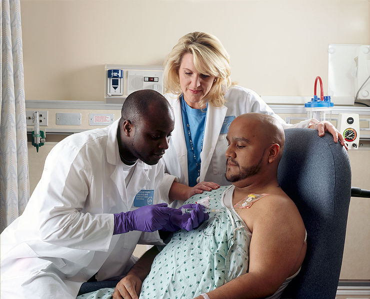 File:Patient receives chemotherapy.jpg