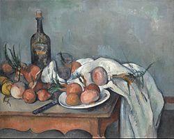 Paul Cézanne: Bodegó amb cebes