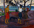 Paul Gauguin - I Raro Te Oviri (Under the Pandanus) - Google Art Project.jpg