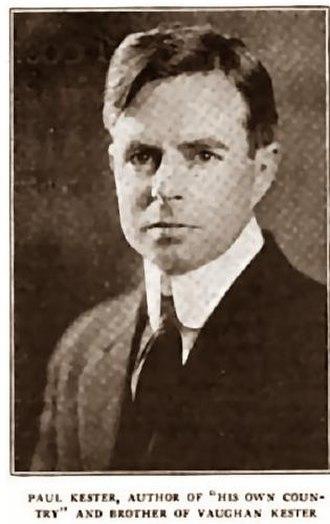 Paul Kester - Paul Kester in 1917