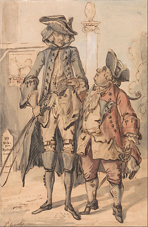 George Dodington, 1st Baron Melcombe -  Caricature of George Bubb Dodington and Sir Thomas Robinson