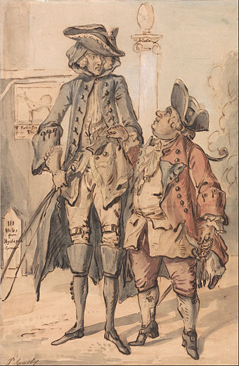 Caricature of George Bubb Dodington and Sir Thomas Robinson Paul Sandby - Caricature of George Bubb Dodington and Sir Thomas Robinson - Google Art Project.jpg