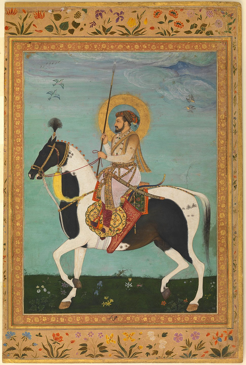 Payag, Shah Jahan on Horseback, Folio from the Shah Jahan Album ca. 1630, Metmuseum