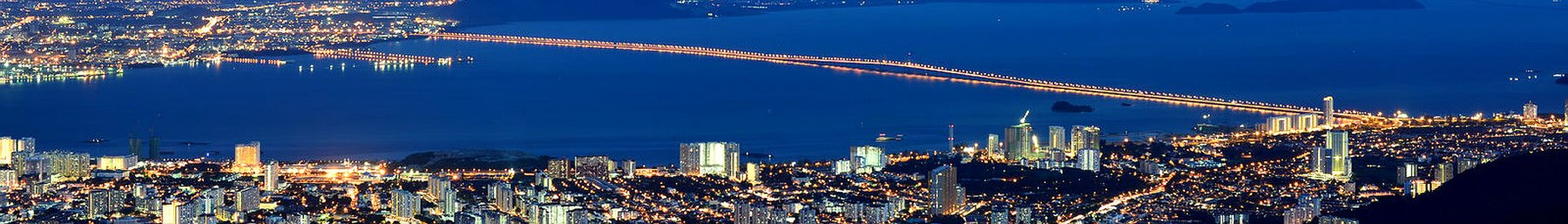 Penang Bridge connecting the Island and Mainland