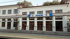 Pendik railway station - The 1936 station building after renovation.
