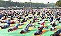 People participating in the rehearsal ahead of the Prime Minister's event on the International Day of Yoga 2018, at the Forest Research Institute, in Dehradun, Uttarakhand on June 19, 2018 (1).JPG