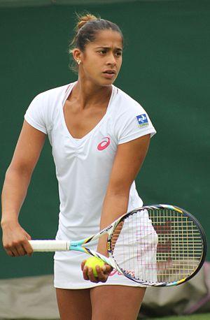 Teliana Pereira - Teliana Pereira at the 2013 Wimbledon qualifications