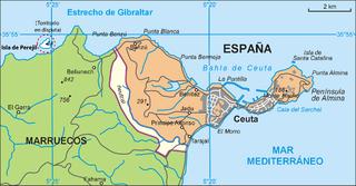 peninsula in Ceuta, Spain