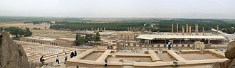 History of Iran - A panoramic view of Persepolis.