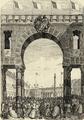 Perspectiva da Praça de D. Pedro, através do arco da rua do Ouro, no dia do consórcio real (1858).png