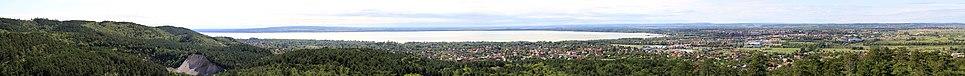 Panorama from Balaton and Keszthely