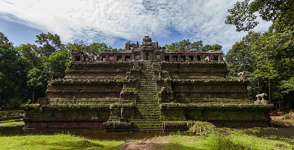 Phimeanakas, Khmer, temple located in the ancient city of Angkor, today Cambodia.