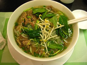 Pho - Southern-style pho served with basil and beansprouts