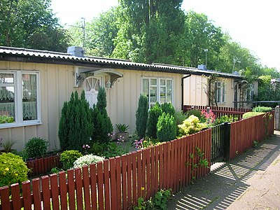 Grade II listed Phoenix prefabs in Wake Green Road, Birmingham