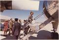 Photograph of Betty Ford Entering her Convair ^816 Aircraft at the Air National Guard Facility at O'Hare Field... - NARA - 186770.tif