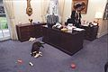 Photograph of Buddy the Dog Playing with Toys in front of Betty Currie's Desk in the Outer Oval Office- 02-06-1998 (6461528773).jpg