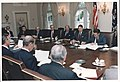 Photograph of President Reagan leading a Cabinet Meeting - NARA - 198576.jpg