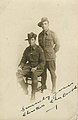 Photographic postcard of Charles Kerr and Charles Booth, both of the Australian Flying Corps (10395241273).jpg