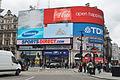 Piccadilly Circus, à Londres le 10 mai 2013.jpg